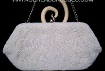 Vintage Bags & Purses / A unique collection of genuine vintage accessories. Gorgeous vintage bags and purses. Perfect not only for the bride, but for those attending a vintage wedding or just  those who love all things vintage! These beautiful period pieces feature delicate embroidery, beautiful embellishments and intricate beading, perfect to complete your look.