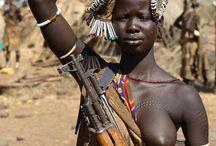 ilginç african people