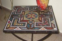 Mosaic coffee table / Mosaic coffee table / Mozaik sehpa modelleri