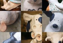 Pottery pets / Stoneware pottery pets for home or garden
