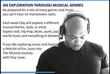 The Musical Journey Show / Be prepared for a mix of many genres and music you can't hear on mainstream radio. Each week Clay will explore a different musical theme, style, or artist.  Expect rock, hip-hop, blues, punk, jazz, world music and everything in between.  If you like exploring music and having a little bit fun, tune into The Musical Journey every Monday night from 8:00PM - 9:30PM on www.radiowarwickshire.com