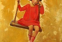 BALANCOIRES images / Balançoires ou escarpolettes, garçons et filles aiment s'y balancer (swing)