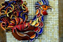 Mosaic Animals / A collection of animals mosaics by a variety of talented mosaicists.