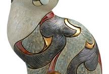 Modern Çini Desenleri Kedi