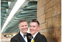 Yellow and Navy Aster Cafe Wedding / Wedding floral designed by Twin Cities wedding florist Artemisia Studios. Photos by B2 Photography at Aster Cafe in Minneapolis, MN.