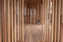 Arquitectura Madera / Tablero que muestra proyectos ajenos a Mo.A, que sirven para expresar nuestras preferencias arquitectónicas