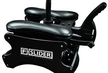 F-Slider Sex Chair / F-SLIDER Pro Self Pleasuring Chair he F-Slider Pro self pleasuring chair you can play by yourself or as a couple. The F-Slider uses your natural body movement to provide stimulation in a comfortable seated position. The ultimate self powered sex rocker comes complete with universal adapters to fit Doc Johnson Vac U Lock or any harness compatible dildo.