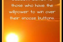 INSPIRATIONAL PINS Success comes to those who have control over their snooze button
