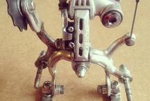 robotics from upcycled / recycled bicycle parts / Fancy robots made of bicycle parts