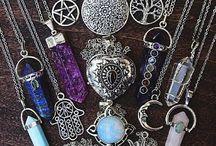 bohojewelry. mineral. crystal pendants.