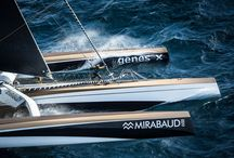 2015 Jules Verne / 2015 Jules Verne contenders Spindrift racing and IDEC Sport circumnavigate the globe in 47 Days, setting 2nd and 3rd fastest times in history with North Sails 3Di.