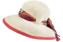 Women's Hat - The Hepburn / We are pleased to introduce the Hepburn, a natural fibre braid Sou' Western hat with printed scarf trim around the crown. Available with ivory/orange scarf with orange trim or natural/black polka dot scarf with black trim. Pin it if you like it.  www.sunhats.co.za