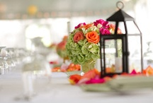 Centerpieces / Sometimes the couple needs to take a break from being the center of attention. All from our past weddings.