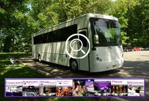 (NJ) PARTY BUS RENTAL (42 Passenger) / This Party Bus can accommodate 42 passengers very comfortably. It is equipped with a V.I.P. Room, 3 Vizio Big Screen TV's and 2 additional front pillar TV's, 8 mini bars, AM/FM/CD, DVD player, I-Pod connection, strobes, laser lights, fiber optic lighting, wood flooring, smoke machine, two Emergency Egress.   #partybus #njpartybus   TRULIMO.COM Tel: 908.523.1700