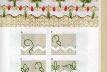 вышивка на вязаном полотне