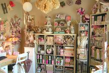 Craft Studio Storage Ideas / by Angie Johnson