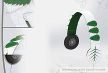 Headphones in the style of 'Nature' / A visual language project aimed in delivering a chosen artifact from the brief in a style of my choice. In this case the realm I decided to opt for was Nature.