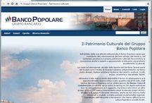 Il patrimonio culturale del Gruppo Banco Popolare / Alcuni screenshot dal sito web dedicato alla promozione e alla valorizzazione del patrimonio culturale del Gruppo Banco Popolare