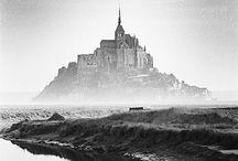Le Mont Saint-Michel en Noir et Blanc
