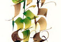 Thèmes : calligraphie