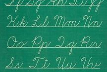 kirjaimia ja tekstausta - letters and printing