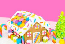 DIY Rainbow Gingerbread House by Lisa Frank