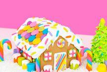 DIY Rainbow Gingerbread House by Lisa Frank