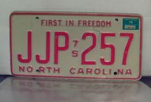 North Carolina Year of Manufacture (YOM) License Plates