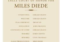 Eagle Court of Honor / Ideas for planning an Eagle Scout Court of HOnor
