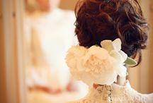 Hair arrangement for wedding