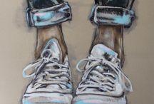 Zapatillas y pies