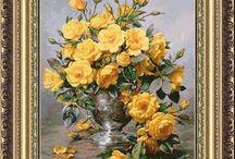Róże wzory haftu