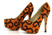 chaussures faites en pagnes africain