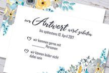 Antwortkarten Hochzeit Response / Antwortkarten für die Hochzeitsgäste passend zu den Einladungen drucken lassen