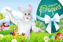 La fête de Pâques / La tradition actuelle de Pâques veut que l'on cache des oeufs en chocolat que les enfants doivent retrouver pour s'en régaler ! =)