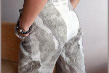 Валяные брюки, юбки.