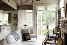 farmhouse living spaces