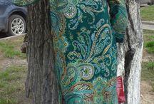 Одежда из паввлопасадских платков