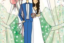Bröllop: inbjudningar & papper
