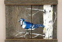 pintura sobre madeira