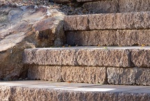 Steps, retaining walls, and deck surfaces / Steps, retaining walls, and deck surfaces