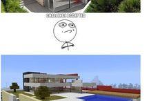 nowoczesny dom vs minecraft