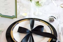 Black and White Table Setting / Black and White Theme