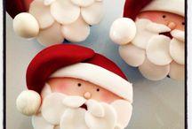 Santa cakes