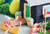 crochet caravans, houses - fold-up