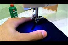 costurando tecidos finos