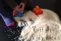 Containing messy play ideas!!