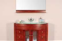 "AW-082-42-C 42"" Single Modern Bathroom Vanity Set Cherry"