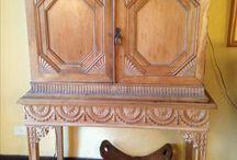 Muebles madera talladas