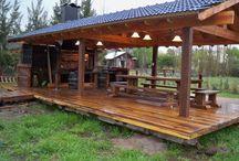 galera de madera campo